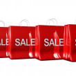 Bags with Sale sign — Vídeo Stock