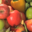 Mixture of vegetables and fruits — Stock Video