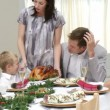 Happy family having Christmas dinner — Stock Video #15399127