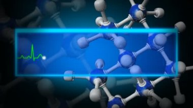 3d Molecule animation — Stock Video