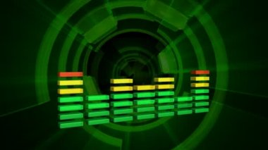 Forma de onda de la música — Vídeo de Stock