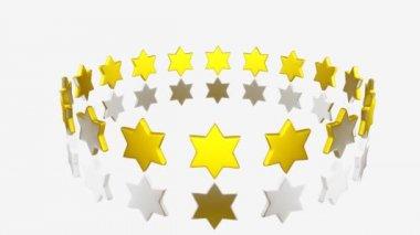 Yellow Stars turning — Stock Video