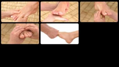 Montage presenting foot massages — Stock Video