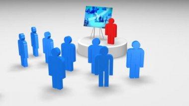 3d personage-presentatie — Stockvideo