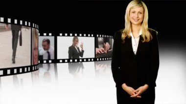 Business woman with Thumbs up — Stock Video