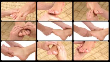 Animation presenting the feet massage — Stock Video