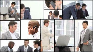 Men hard at work — Stock Video