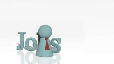 Jobs 3d advertisement — Stock Video #15395805