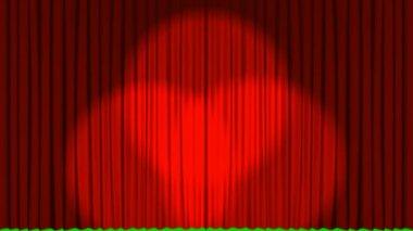 Animación 3d cortinas — Vídeo de Stock