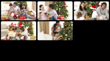 Montage presenting Christmas celebration — Stock Video