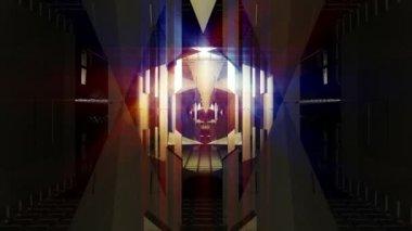 Moving down corridor animation — Stock Video