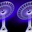 Stock Video: 3d Satellite dishes