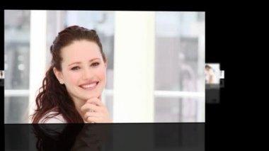 женщина, показаны лидерство в бизнес-среде — Стоковое видео