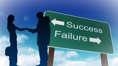 Success and Failure sign — Stock Video