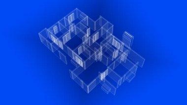 House Blueprints — Stock Video