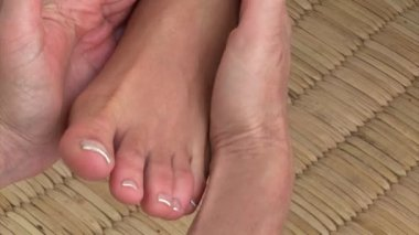 Close-up of a foot massage — Stock Video