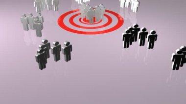 Teamwork Concept in 3D — Stock Video