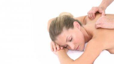 Massage in de day spa — Stockvideo