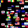 Flags of the world animated - Stok fotoğraf