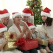 Stok video: Family Christmas at home