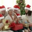 Aile Noel evde — Stok video