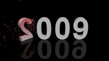 Feliz 2010 animação 3d — Vídeo Stock
