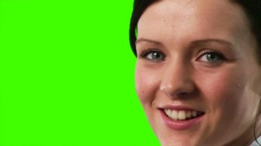 Green Screen Footage of a Businesswoman — Stock Video