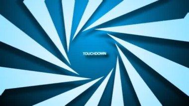 Animação 3d de touchdown — Vídeo Stock