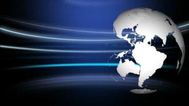 3d-wereld draaien — Stockvideo