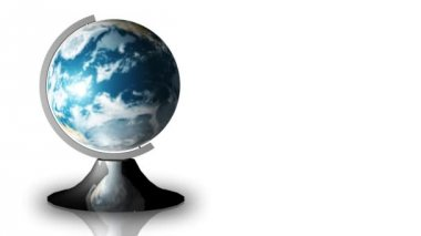 Animation of a turning globe and a stand — Video Stock