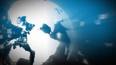 3d Globe turning — Stock Video
