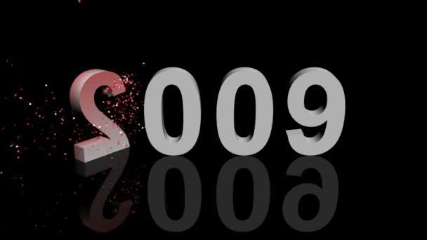 Feliz 2010 Animación 3d — Vídeo de stock