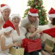 Family Christmas at home - Stock Photo