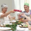 Joyous Christmas family occasion — Stockvideo #15421301