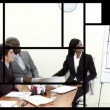Animation of business at a presentation in a company — Stock Video