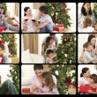 Royalty-Free Stock Imagem Vetorial: Animation presenting several families celebrating