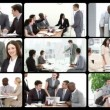 Stock Video: Montage presenting the concept of business team