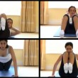 Stock Video: Animation of a radiant woman doing fitness exercises