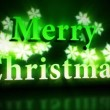 Merry Christmas animation in green colours  — Vídeo Stock