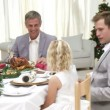 Homely Christmas Dinner with all the family — Stock Video #15425697