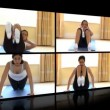 Stock Video: Stock animation of womdoing fitness exercises