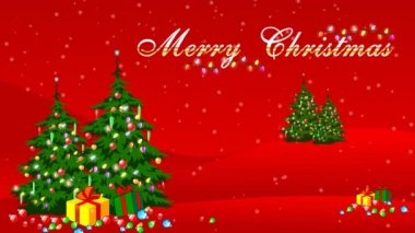 Merry Christmas Animation — Stock Video