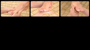 Animation presenting healthy foot massages — Stock Video