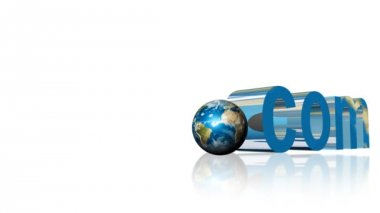 Dot com website address in 3D — Stock Video