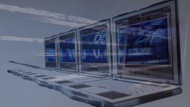 Presentando il concetto di nuova tecnologia di animazione 3d — Video Stock
