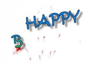 Happy Birthday animation — Stock Video