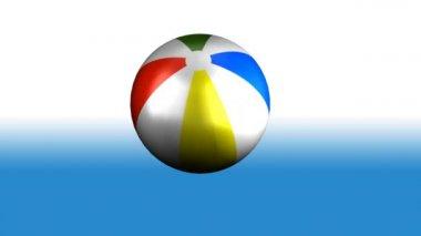 Beach Ball Spinning — Stock Video #15423077