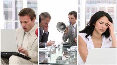 Stres v podnikání — Stock video