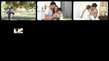 Stock animation presenting fatherhood — Stock Video