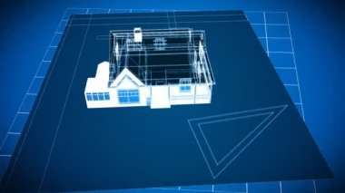 Cad House Drawings — Stock Video
